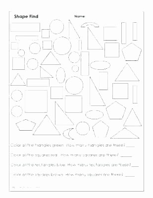 Identify Shapes Worksheet Kindergarten Geometric Shapes Worksheets for Kindergarten