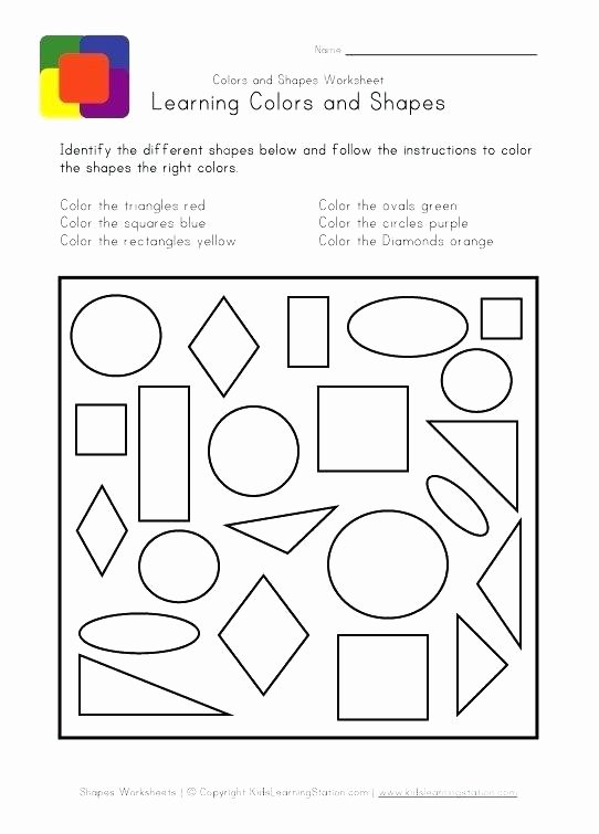 Identify Shapes Worksheet Kindergarten Kids Colors and Shapes Oval Shape Worksheets for Kindergarten
