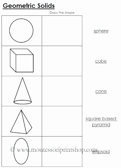 Identify Shapes Worksheet Kindergarten Two and Three Dimensional Shapes Worksheets