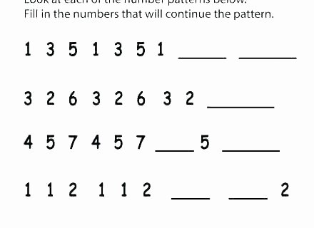 Identify Shapes Worksheet Number Patterns Worksheets for Kindergarten