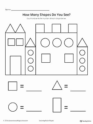Identify Shapes Worksheet Shapes and Numbers Worksheets