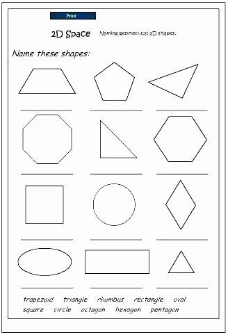 Identify Shapes Worksheet Symmetry Worksheets