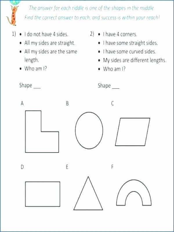 Identify Shapes Worksheets 1st Grade Geometry Worksheets