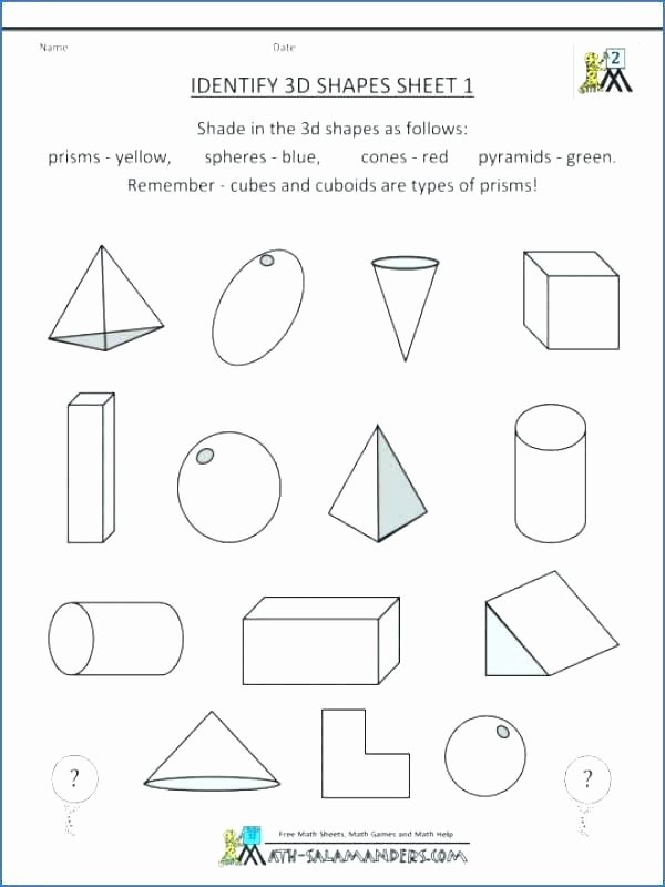 free math worksheets for high school geometry beautiful word mean with answers grade identify shapes problems worksh