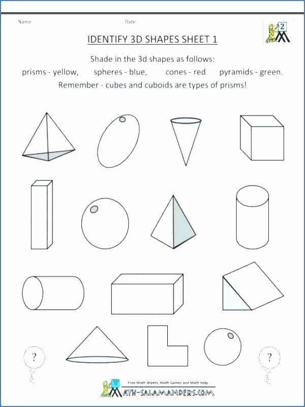 Identify Shapes Worksheets Free High School Geometry Worksheets