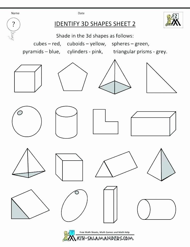 Identify Shapes Worksheets Math Worksheets On Shapes Grade 2