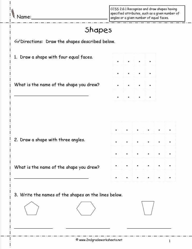 Identify Shapes Worksheets Shapes Worksheets for Kindergarten Awesome 62 Writing Sheets