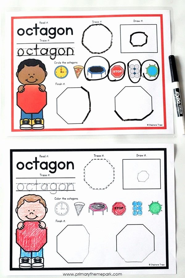 Identifying 2d Shapes Worksheets 2d Shapes Activities for Kindergarten