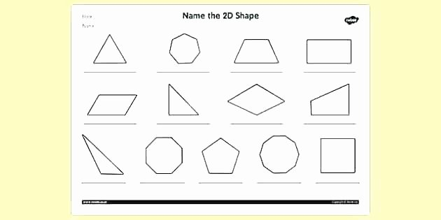 Identifying 2d Shapes Worksheets 2d Shapes Worksheets Grade 1