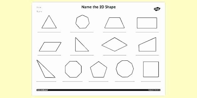 Identifying 2d Shapes Worksheets 2d Shapes Worksheets Grade 1
