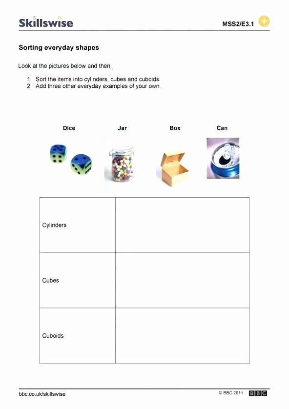 Identifying 2d Shapes Worksheets 3 D Shapes Worksheet Preview sorting Everyday Printable