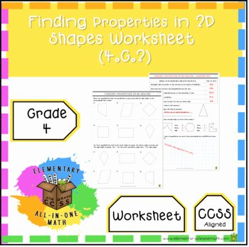 Identifying 2d Shapes Worksheets Finding Properties In 2d Shapes Worksheet Grade 4 Geometry 4 G 2