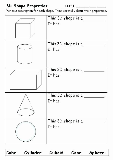 Identifying 2d Shapes Worksheets Shapes Worksheets for Grade 3 Free Shapes Worksheets 2d