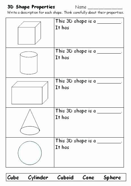 Identifying 2d Shapes Worksheets Shapes Worksheets for Grade 3 Free Shapes Worksheets 2d
