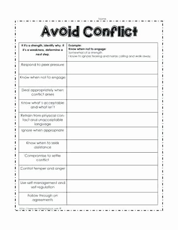 Identifying Conflict Worksheets Worksheet Ct Resolution Idea Types Examples Conflict