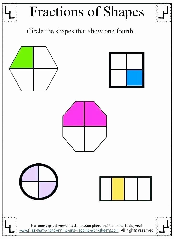 Identifying Fraction Worksheets Free Fraction Worksheets for Fourth Grade