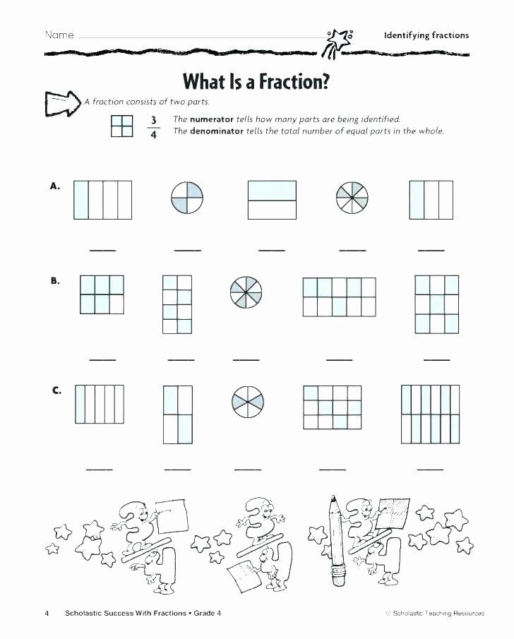 Identifying Fraction Worksheets Grade Math Fractions Worksheets Printable 3rd Multiplication