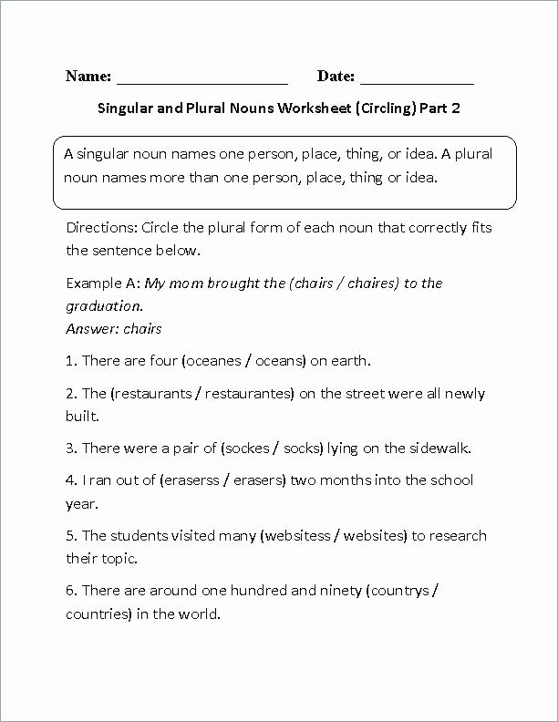 Identifying Nouns and Verbs Worksheets Grade Mon and Proper Nouns Worksheets Identifying