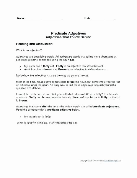 Identifying Nouns and Verbs Worksheets Noun Verb Adjective Worksheet Nouns and Pronouns Used as