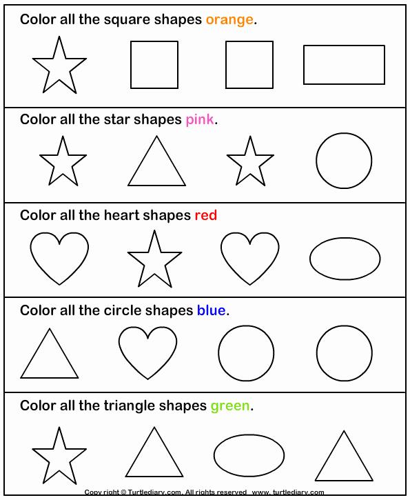Identifying Shapes Worksheets Identify Shapes Worksheet2