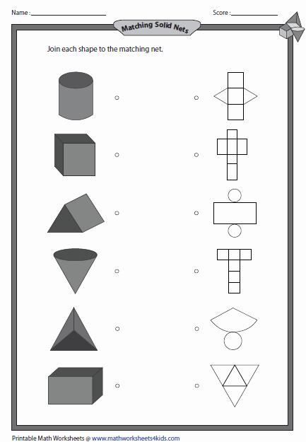 Identifying Shapes Worksheets Kindergarten 3d Shapes Worksheets solid 3d Shapes