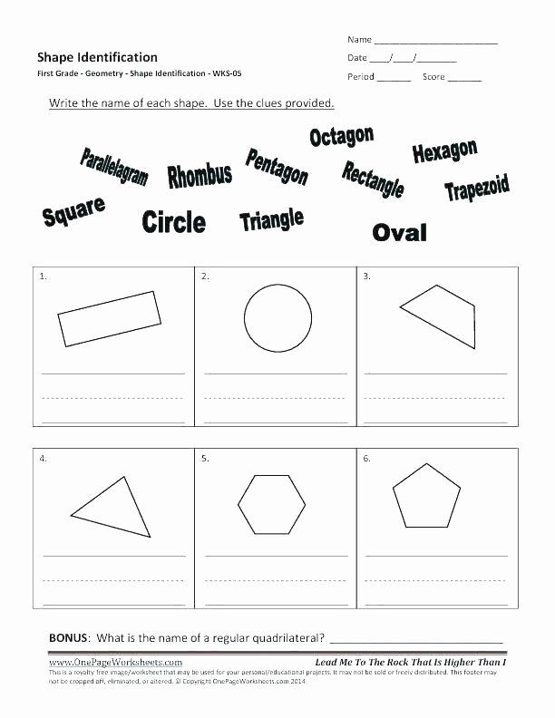 Identifying Shapes Worksheets Octagon Shape Printable – Bahamasecoforum
