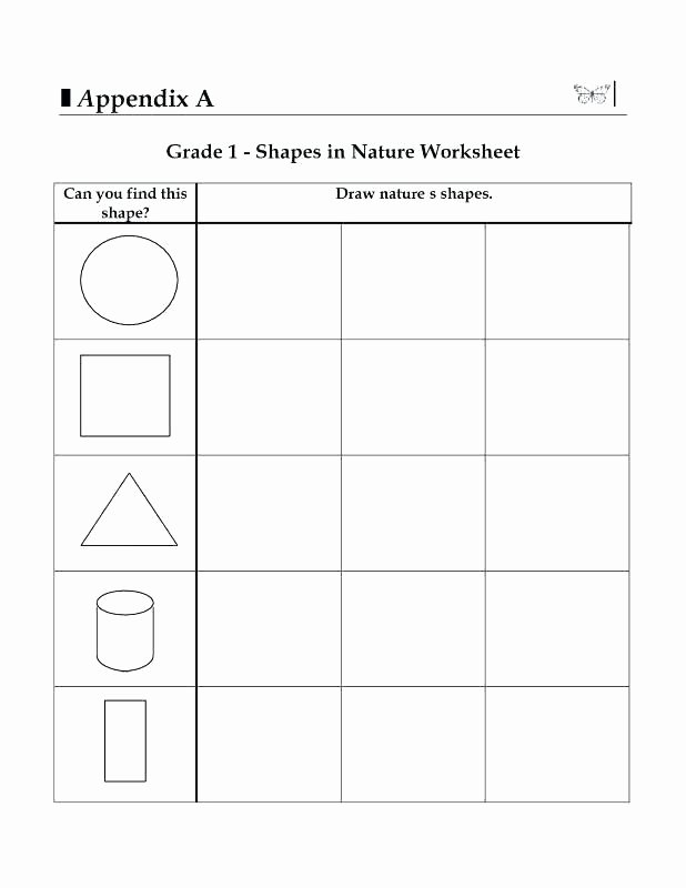 Identifying theme Worksheet Grade Geometry Worksheets for Students Shape Identification