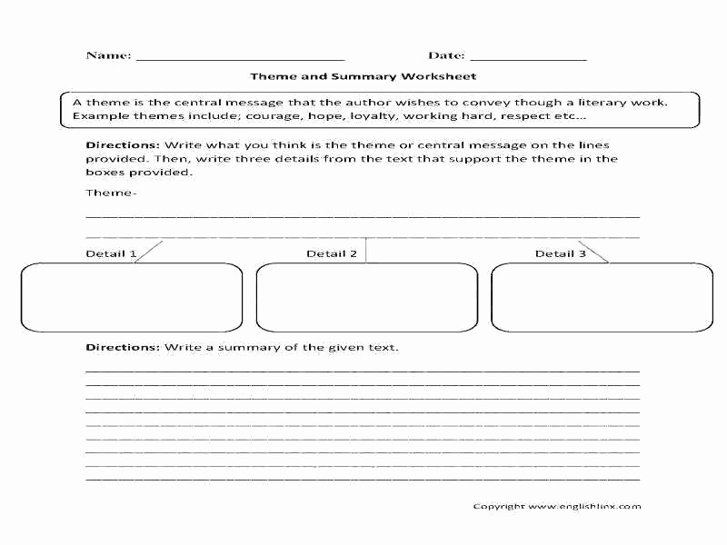 Identifying theme Worksheet theme Worksheets Grade Story Elements Plot Setting