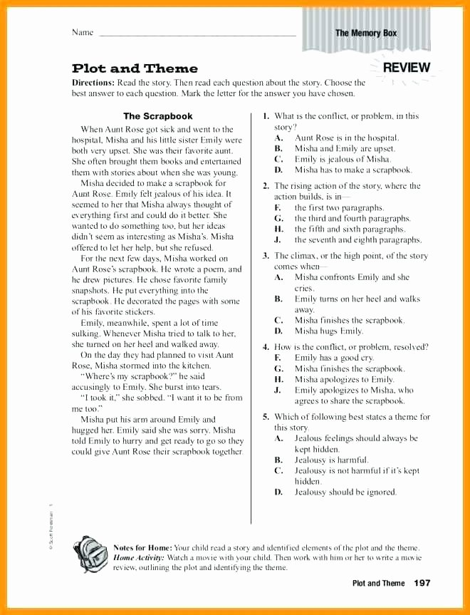 Identifying theme Worksheets Answers Unique Finding the theme Of A Story Worksheets – Petpage