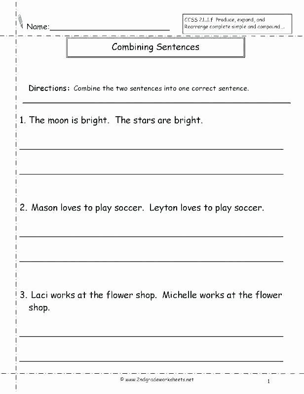 Improving Sentence Structure Worksheets Sentence Structure Worksheets