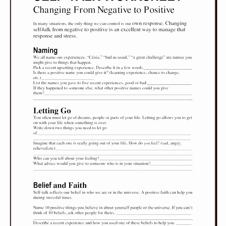 Impulse Control Worksheets for Teens Self Esteem Worksheets and Activities for Teens Confidence