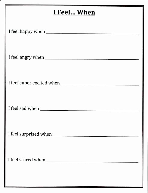 Impulse Control Worksheets Pdf Best Of Self Esteem Building Small Group Counseling Lesson Plans and