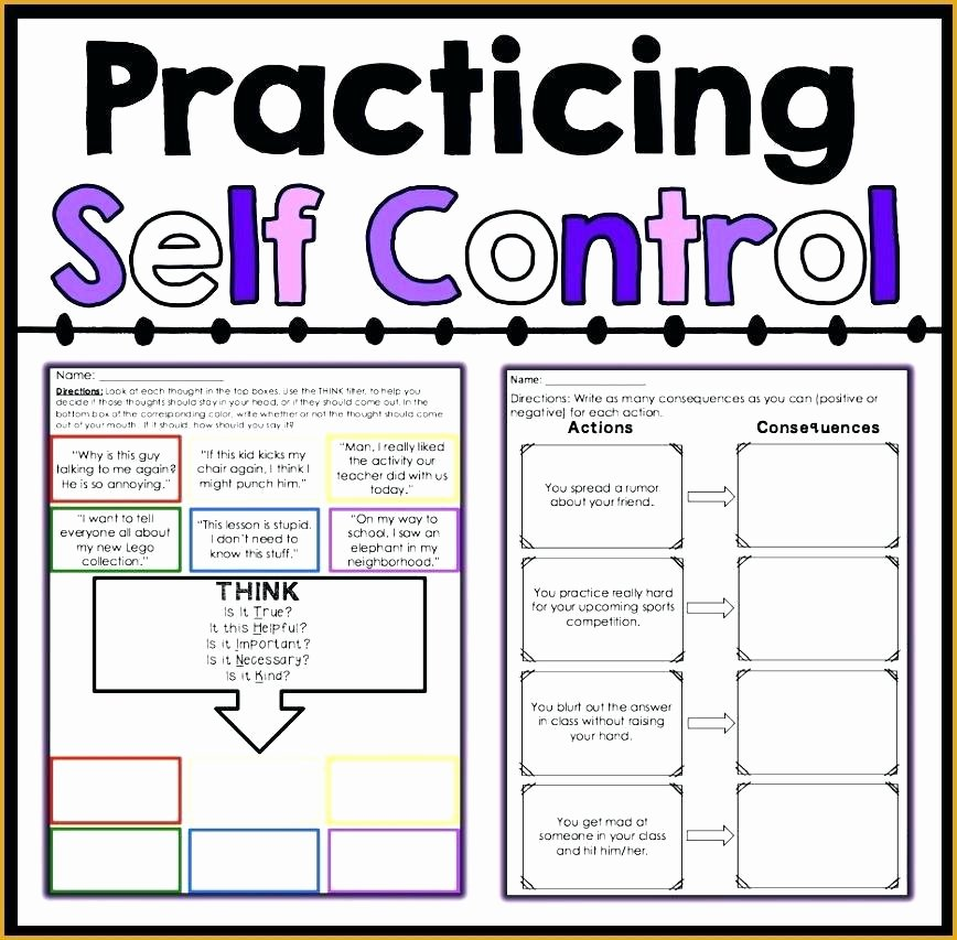 Impulse Control Worksheets Pdf Unique Self Control Worksheet Bubbles A Behavior Management Coping