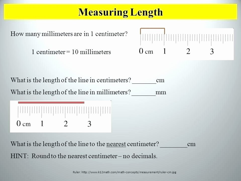 Inches Measurement Worksheets Measuring Length Worksheets Inches and Centimeters Meter