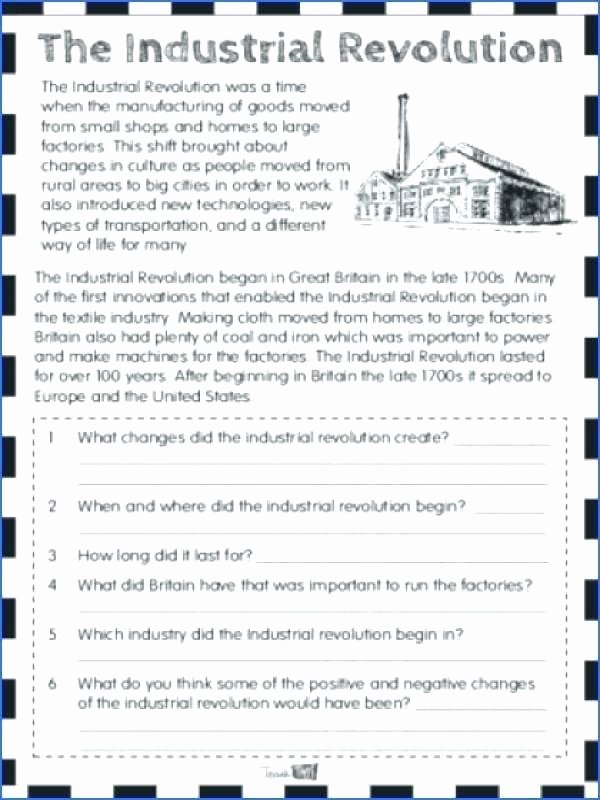 Industrial Revolution Worksheet Pdf Elegant Industrial Revolution Pdf Worksheets