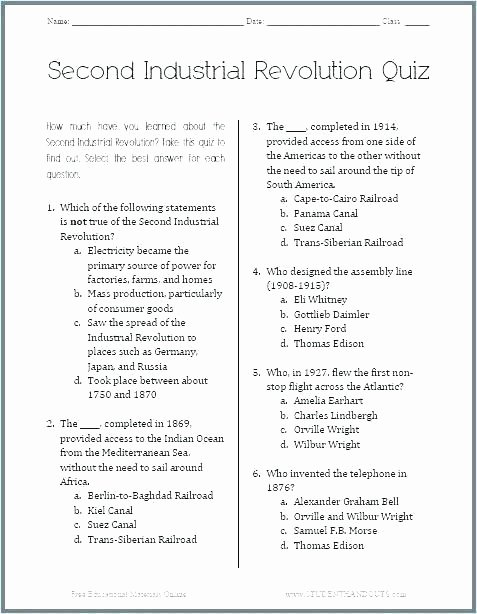 Industrial Revolution Worksheet Pdf Inspirational Sac Lesson Plan Industrial Revolution Worksheets History