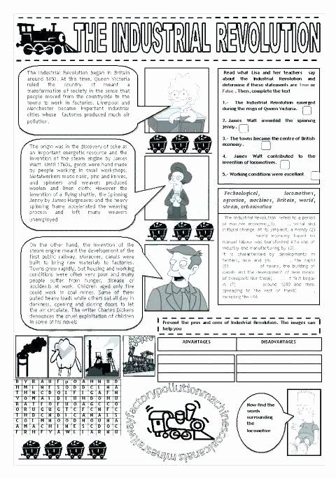 Industrial Revolution Worksheets Pdf Beautiful 9 History Movement People Industrial Revolution