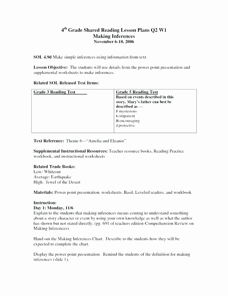Inference Worksheets for 4th Grade 4th Grade Inferences Worksheets