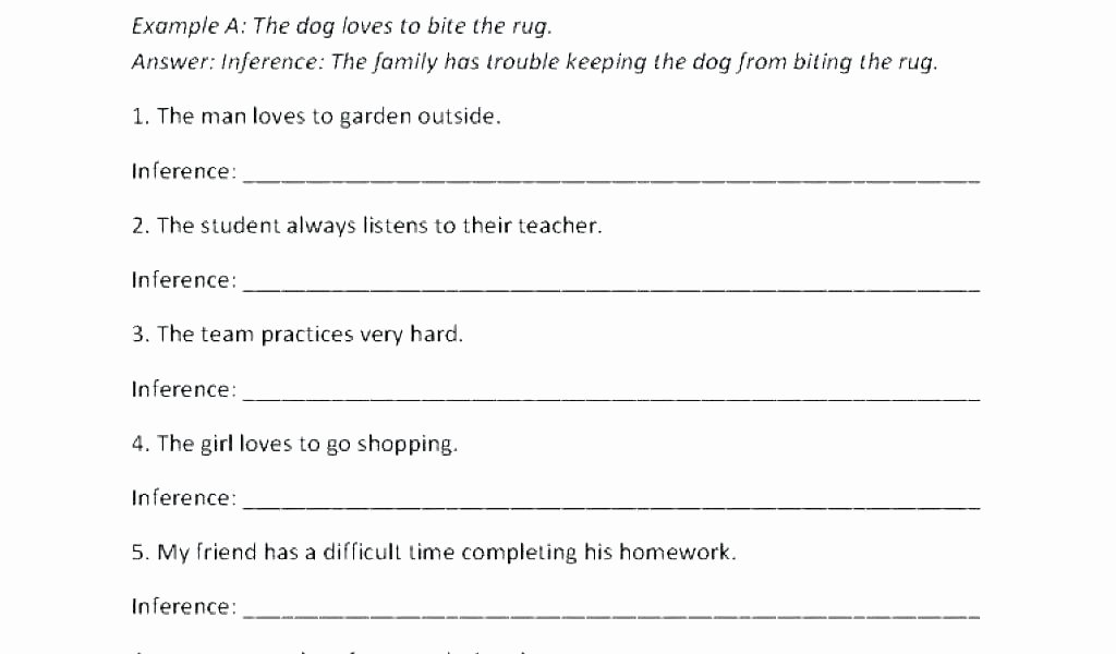 Inference Worksheets for 4th Grade 5th Grade Inferencing Worksheets – butterbeebetty