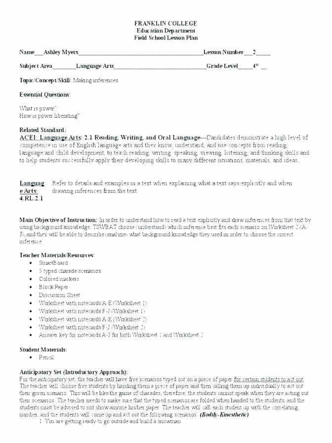 Inference Worksheets for 4th Grade Inference Worksheets High School What Do You See Observation