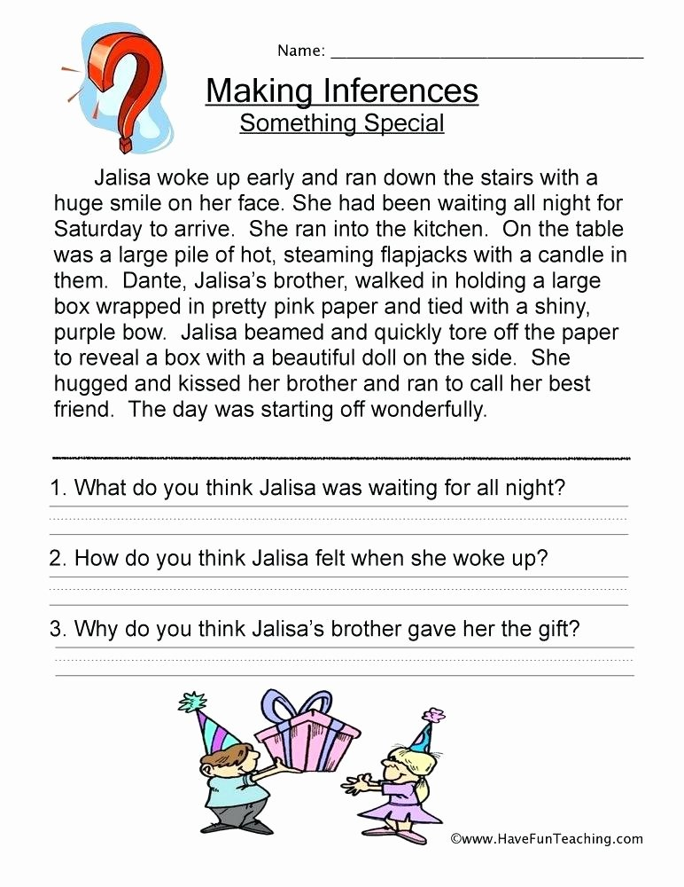 Inference Worksheets for 4th Grade Making Inferences Worksheets 2nd Grade Free