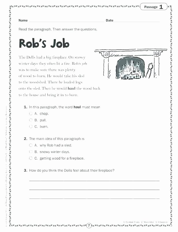 Inference Worksheets Grade 3 3rd Grade Reading Prehension Worksheets Inference