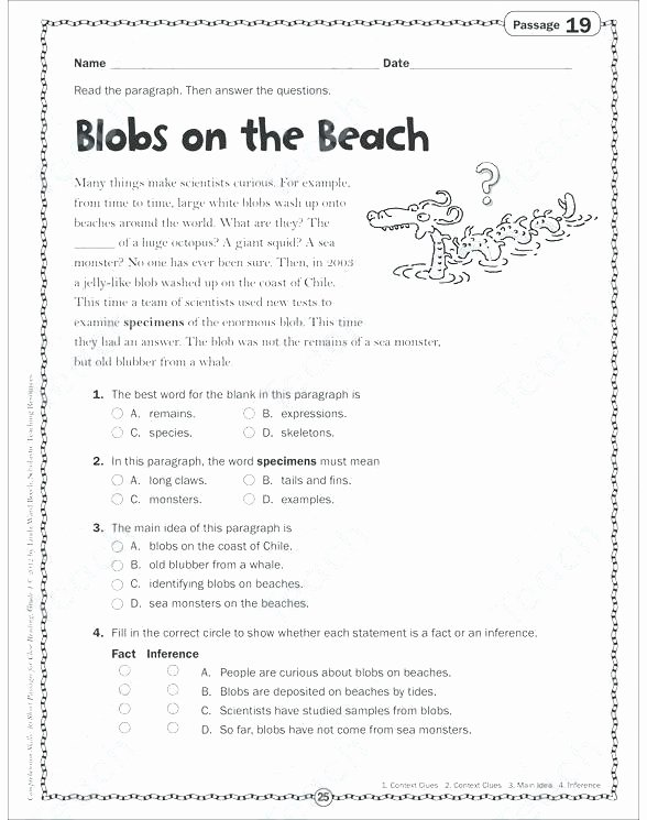 Inference Worksheets Grade 3 Inference Worksheets 4th Grade Inference Worksheet 3 Plot