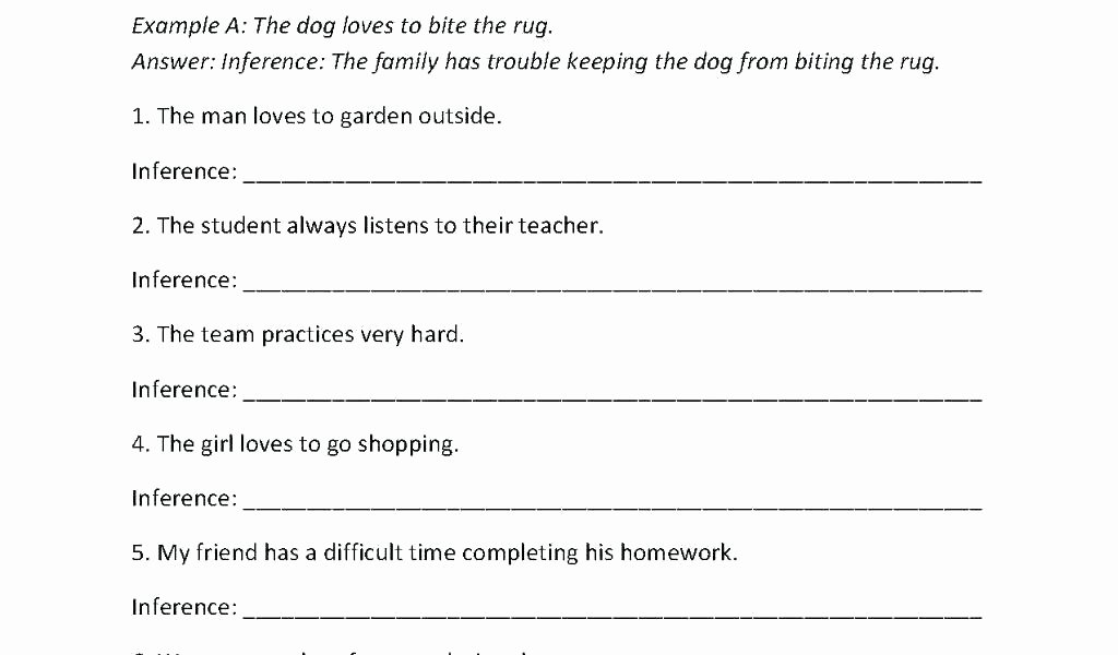 Inference Worksheets Grade 3 Inference Worksheets Grade 2