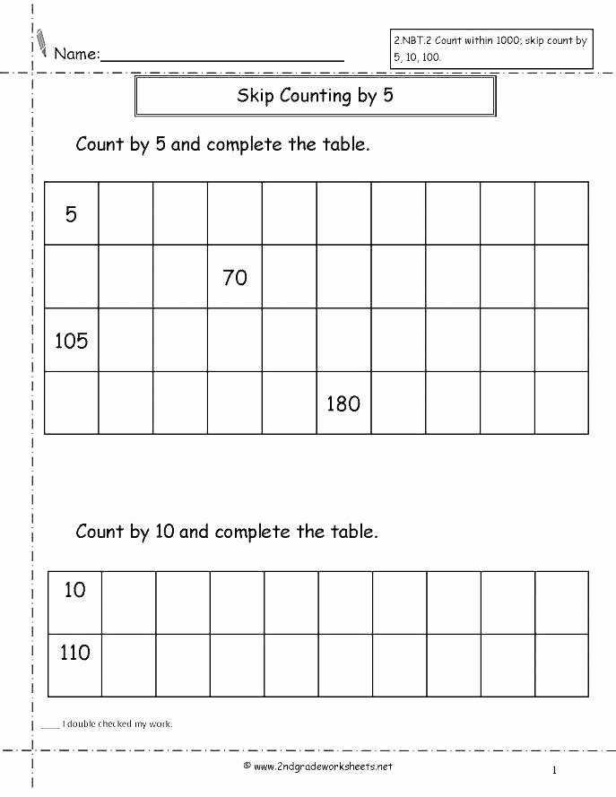 Inference Worksheets Grade 4 4 2 Worksheets Free Skip Counting for Grade 3 Count by 5 and