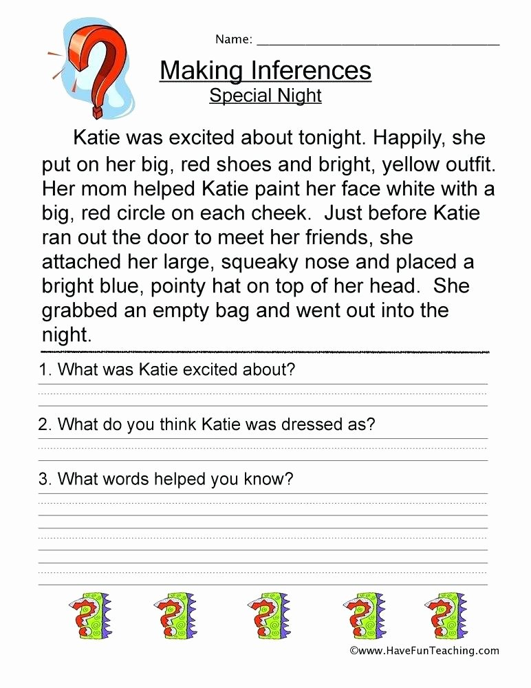 inference worksheets 9th grade making inferences special night worksheet inferencing pdf resources