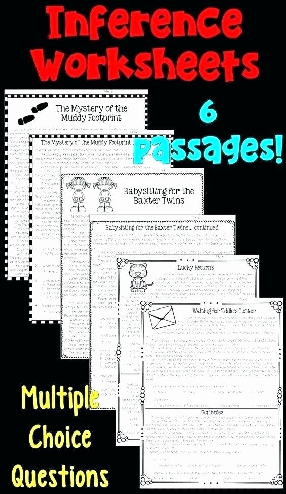 Inferencing Worksheets 4th Grade Inference Worksheets Middle School