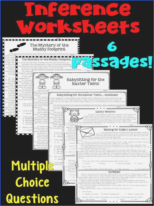 Inferencing Worksheets Grade 4 Inference Worksheets Unique Expressing Inferences Worksheets