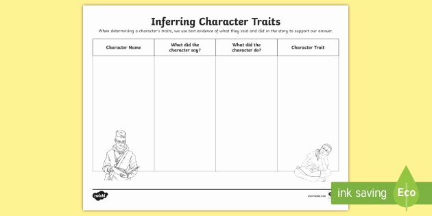 Inferencing Worksheets Grade 4 Inferring Character Traits Activity Reading Resource Twinkl