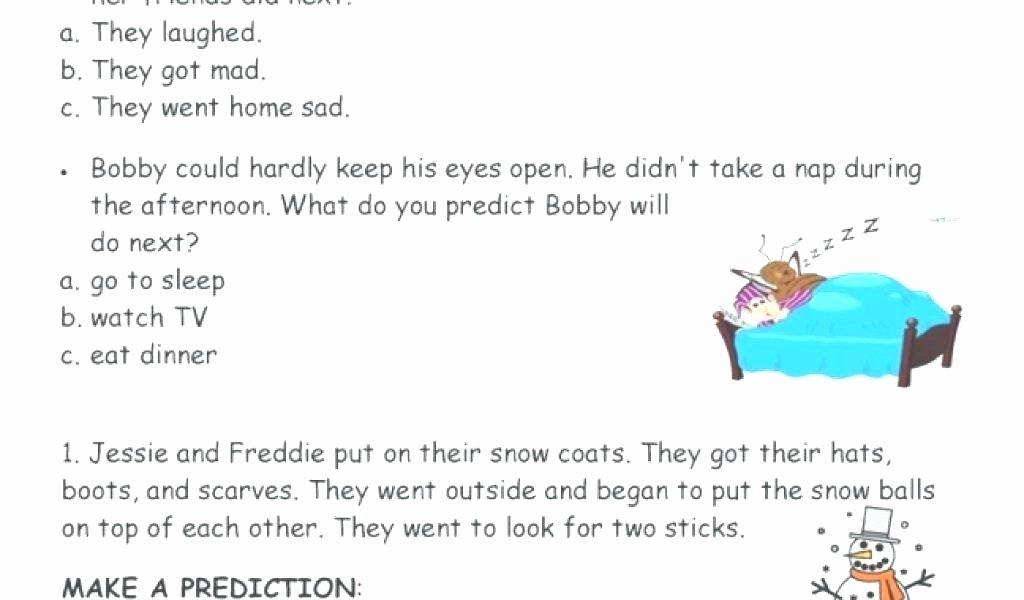 Inferencing Worksheets Grade 4 Making Predictions Worksheets 2nd Grade Making Predictions